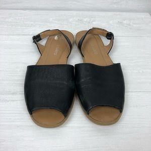 Franco Sarto leather velvet open toe sandals 7 M